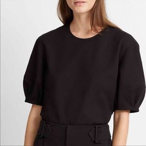 Club Monaco puff sleeve back zip blouse top